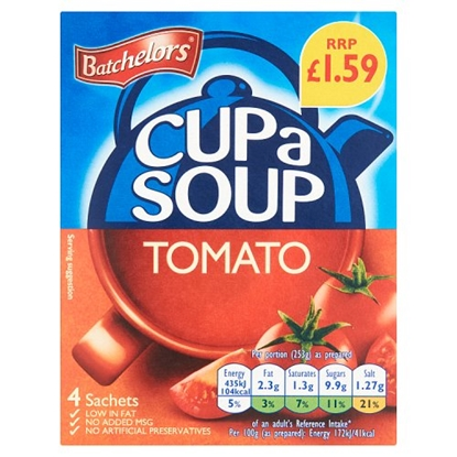 Picture of PM £1.59 BATCHELORS CUP A SOUP TOMATO 93G X 9