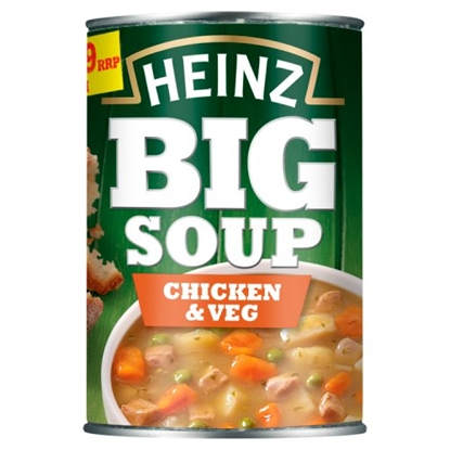 Picture of PM £1.29  HEINZ BIG SOUP CHICKEN & VEGETABLE x 12