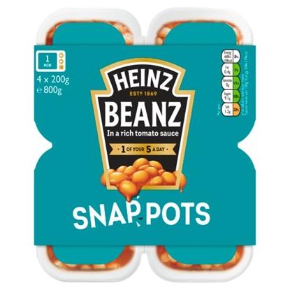 Picture of HEINZ BEANS SNAP POTS 2PK X 200G X 6