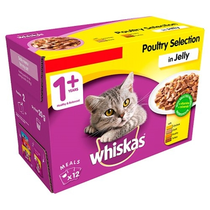 Picture of PM £3.75WHISKAS POULTRY IN JELLY PCH 100GX 12  X 4