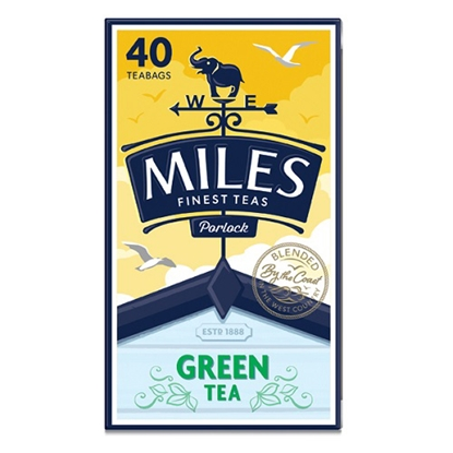 Picture of MILES GREEN TEA BAGS 40s X 6