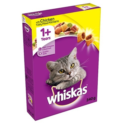 Picture of PM £1.19 WHISKAS COMPLETE DRY CHICKEN 340G X 6