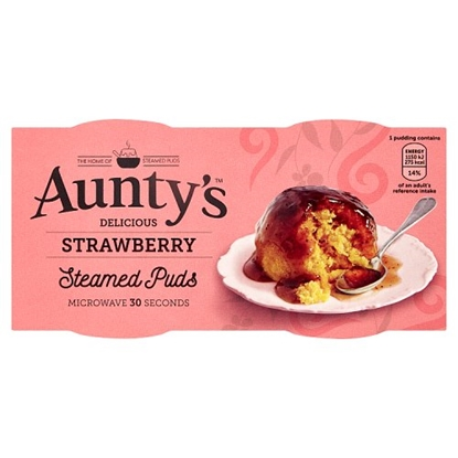 Picture of AUNTYS STRAWB PUD 2x100G x 6