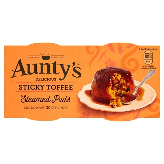Picture of AUNTYS ST/TOFFEE PUD 2x100G x6