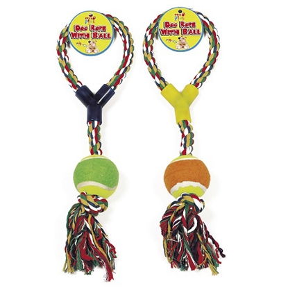Picture of DOG ROPE WITH BALL X 12