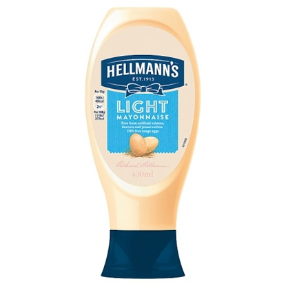 Picture of HELLMANNS LIGHT MAYO SQUEEZY 430 ML x 8