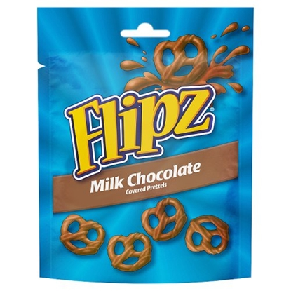 Picture of FLIPZ POUCHES MILK CHOC PRETZELS 100G X 6