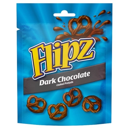 Picture of FLIPZ POUCHES DARK CHOC PRETZELS 100G X 6
