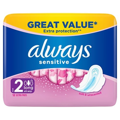 Picture of ALWAYS  SENSITIVE LONG 12S x 8