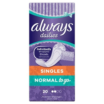 Picture of ALWAYS DAILIES NORMAL 20'S X 6