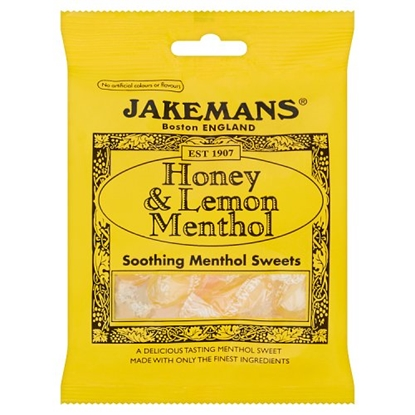 Picture of JAKEMANS HONEY & LEMON LOZENGE BAGS X 10