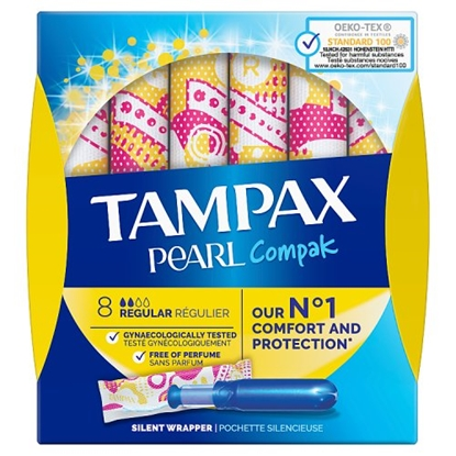 Picture of TAMPAX COMPK PEARL REGULAR 8s X 12