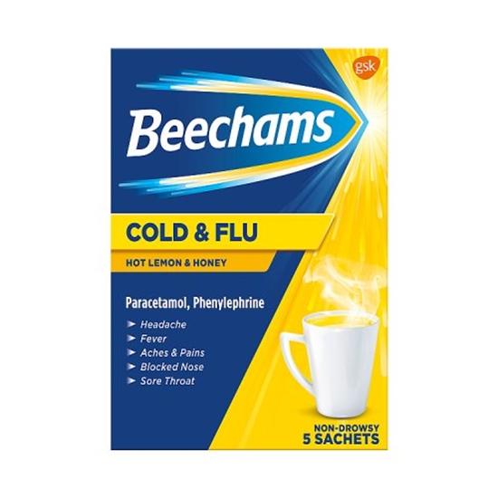 Picture of BEECHAMS COLD&FLU HOT *HONEY/LEMON* 5S X 6