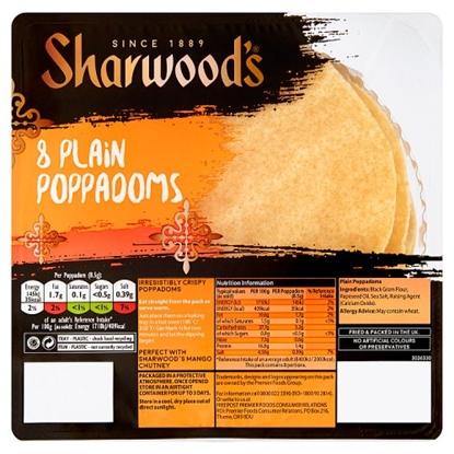 Picture of SHARWOODS POPPADUMS 8PK X 12