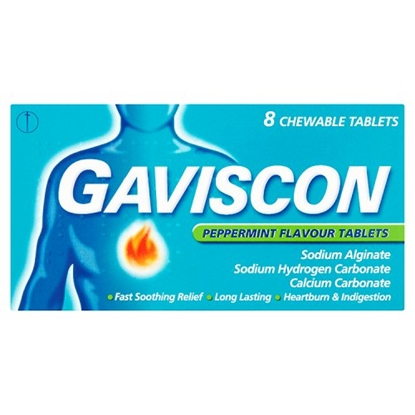 Picture of GAVISCON TABLETS PEPPERMINT 8'S X 12