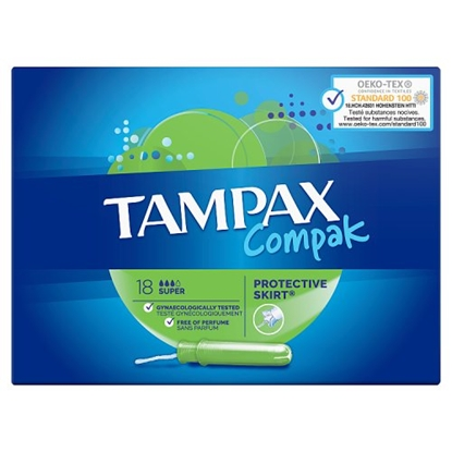 Picture of TAMPAX COMPACT SUPER 18s X 6