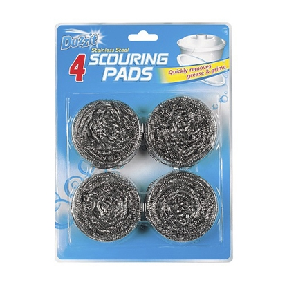 Picture of DUZZIT S/ STEEL SCOURING PADS 4PK X 12