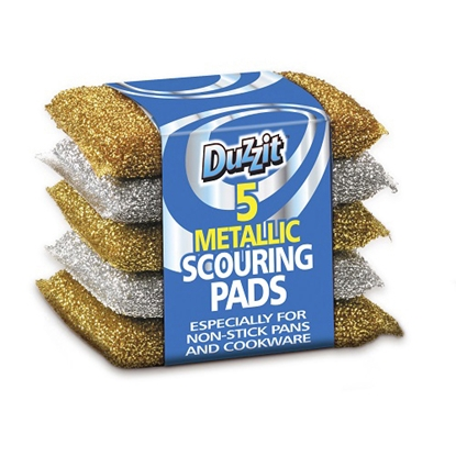 Picture of METALLIC SCOURING PADS 5S x12