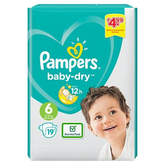 Picture of PM £4.99 PAMPERS SIZE 6 19S X 4
