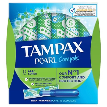 Picture of TAMPAX COMPACT *PEARLS* SUPER 8s X12