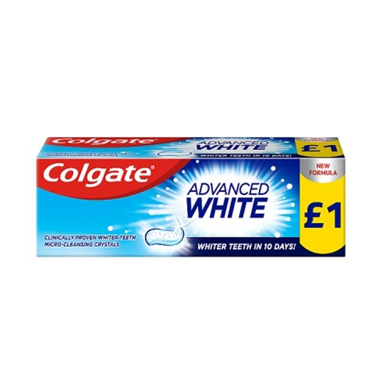 Picture of PM £1 COLGATE ADVANCED  WHITE 50ML x 12