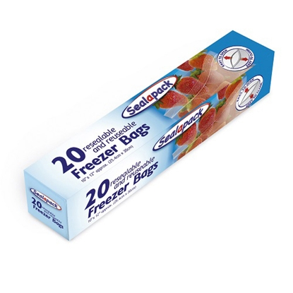 Picture of SEALAPACK FREEZER BAGS 20PK X 12