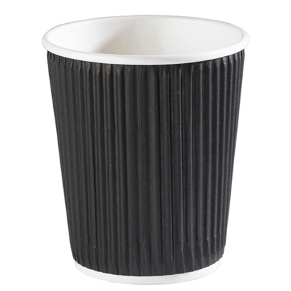 Picture of 8OZ BLACK RIPPLE CUP X 500