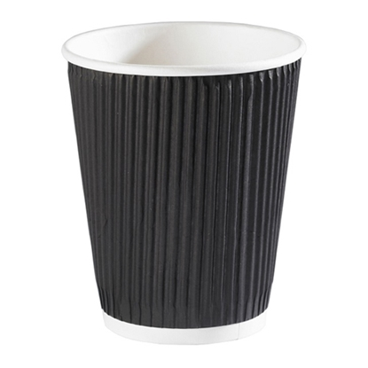Picture of 12OZ BLACK RIPPLE CUP X 500