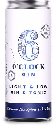 Picture of 6 O'CLOCK LIGHT & LOW GIN & TONIC CAN 250ML X 12