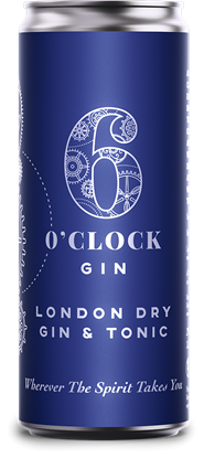 Picture of 6 O'CLOCK GIN & TONIC CAN 250ML X 12