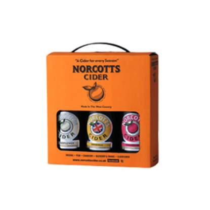 Picture of NORCOTTS CIDER 3 BOTTLE GIFT X 6