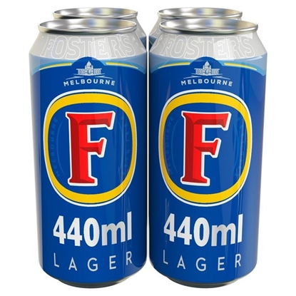 Picture of FOSTERS *440ML* 4 PACK X 6
