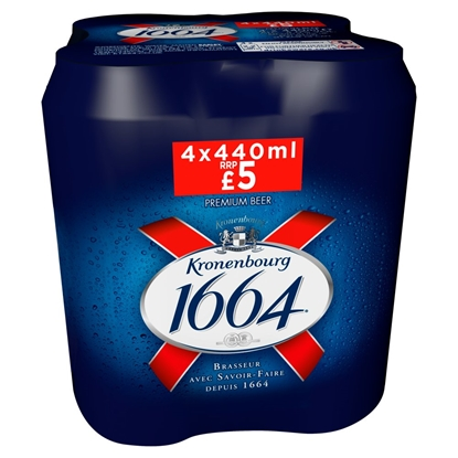 Picture of PM £5.00 KRONENBOURG 1664 440ML 4PK