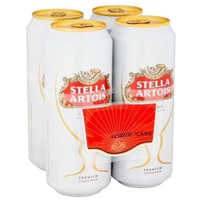 Picture of STELLA ARTOIS 500ML 4 PACK X 6