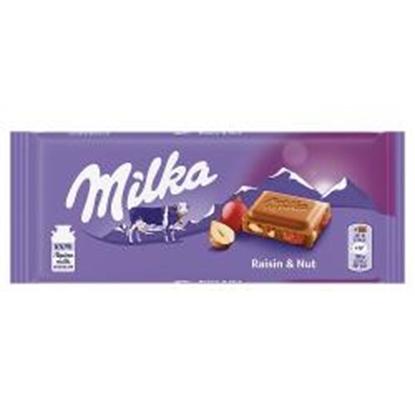 Picture of MILKA NUTS & RAISINS 100g x 22