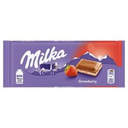 Picture of MILKA STRAWBERRY 100g x 22