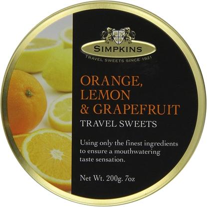 Picture of SIMPKINS ORANGE,LEMON&GRAPEFRUIT TRAVEL TIN 200Gx6