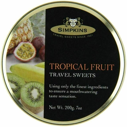 Picture of SIMPKINS TROPICAL FRUIT TRAVEL TINS 200G X 6