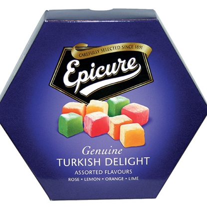 Picture of EPICURE ASSORTED FLAVOUR TURKISH DELIGHT 325G X12