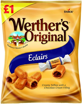 Picture of PM £1 WERTHERS ECLAIRS 100G X 15