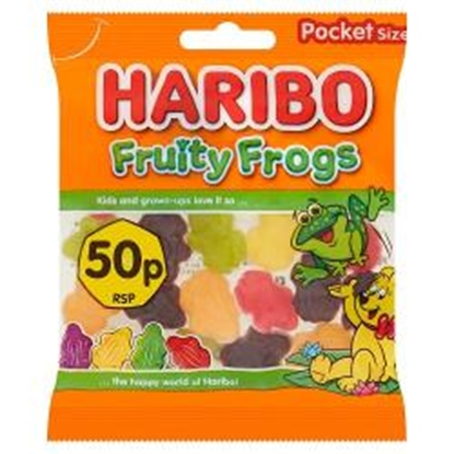 Picture of PM 50P HARIBO FRUITY FROGS 70G X 20