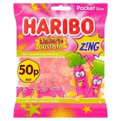 Picture of PM 50P HARIBO RHUBARB&CUSTARD ZING *70G*x 20 **