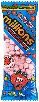 Picture of MILLIONS *MINI TUBES* STRAWBERRY *25P*