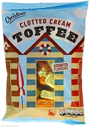 Picture of BRISTOWS CLOTTED CREAM TOFFEE *POSTCARD* 150G x50