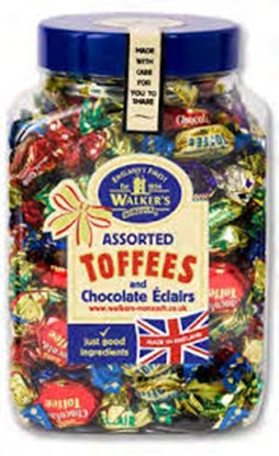 Picture of WALKERS W/O ASSORTED TOFFEE ECLAIRS  2.5KG BAG