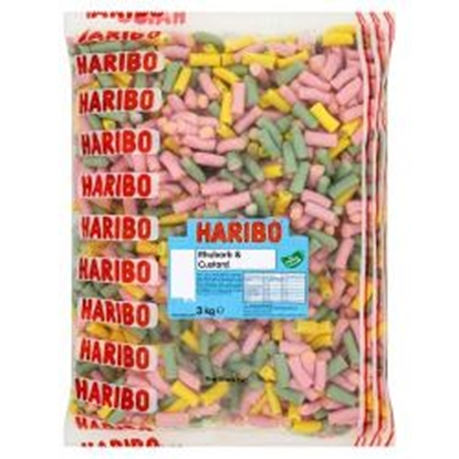 Picture of HARIBO W/O RHUBARB & CUSTARD X 3KG