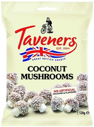 Picture of TAVENERS COCONUT MUSHROOMS 120G x 12