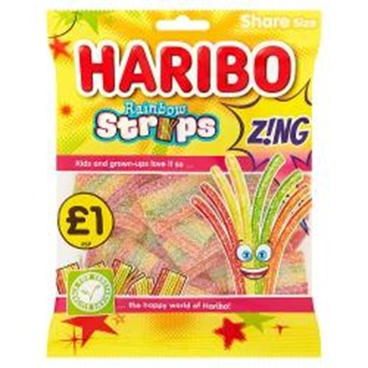 Picture of PM £1 HARIBO RAINBOW STRIPS Z!NG 130g X 12