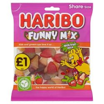 Picture of PM £1 HARIBO FUNNY MIX 160G X 12