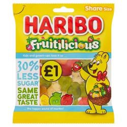 Picture of PM £1 HARIBO FRUITILICIOUS 135G X 12